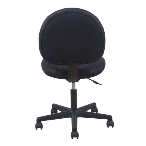 Essentials by OFM ESS-3060 Upholstered Armless Swivel Task Chair, Black ; UPC: 089191013198 ; Image 3