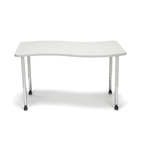 OFM Adapt Series Large Wave Standard Table - 25-33? Height Adjustable Desk with Casters, Gray Nebula (WAVE-L-LLC) ; UPC: 845123096154 ; Image 3