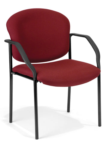 OFM Manor Series Model 404 Fabric Guest and Reception Chair with Arms, Wine ; UPC: 811588013999 ; Image 1