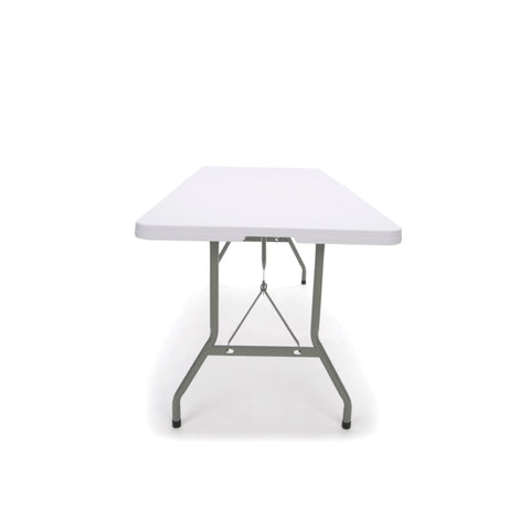 Essentials by OFM ESS-5072F 6' Blow Molded Center-Folding Utiity Table, White ; UPC: 845123089217 ; Image 4