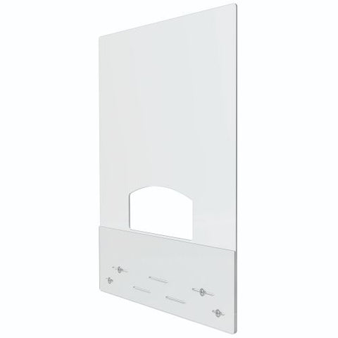 "Deflecto Mount to Counter Barrier, 31.5"" wide x 38"" tall w/ Pass Thru - 1/8"" Clear Polycarbonate, 2/CT"