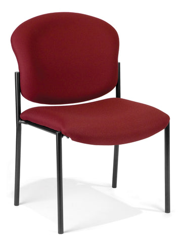 OFM 408-803 Armless Stack Chair, Wine ; UPC: 811588013166 ; Image 1