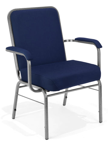 OFM Big and Tall Comfort Class Series Fabric Arm Chair, Navy ; UPC: 845123004036 ; Image 1