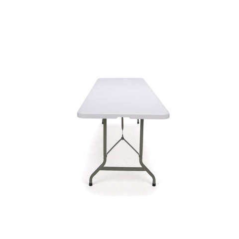 Essentials by OFM ESS-5096F 8' Blow Molded Center-Folding Utility Table, White ; UPC: 845123089231 ; Image 4