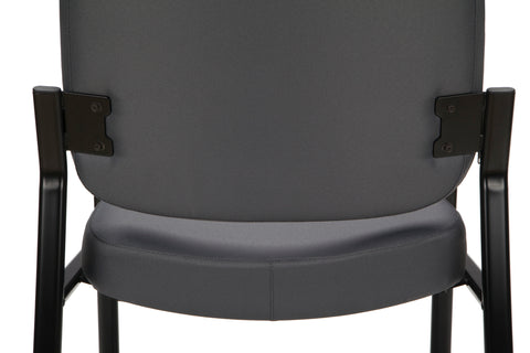 OFM Model 407 Fabric Big and Tall Guest and Reception Chair with Arms, Gray ; UPC: 845123028551 ; Image 9
