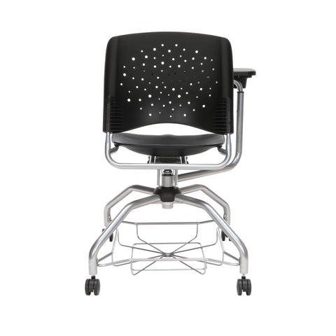 OFM Stars Foresee Series Tablet Chair with Removable Plastic Seat Cushion - Student Desk Chair, Black (329T-P) ; UPC: 845123094297 ; Image 3