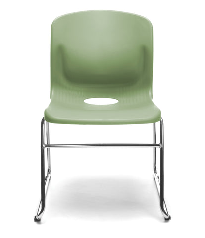 OFM Model 315 Multi-Use Stack Chair, Plastic Seat and Back, Olive ; UPC: 845123034774 ; Image 2