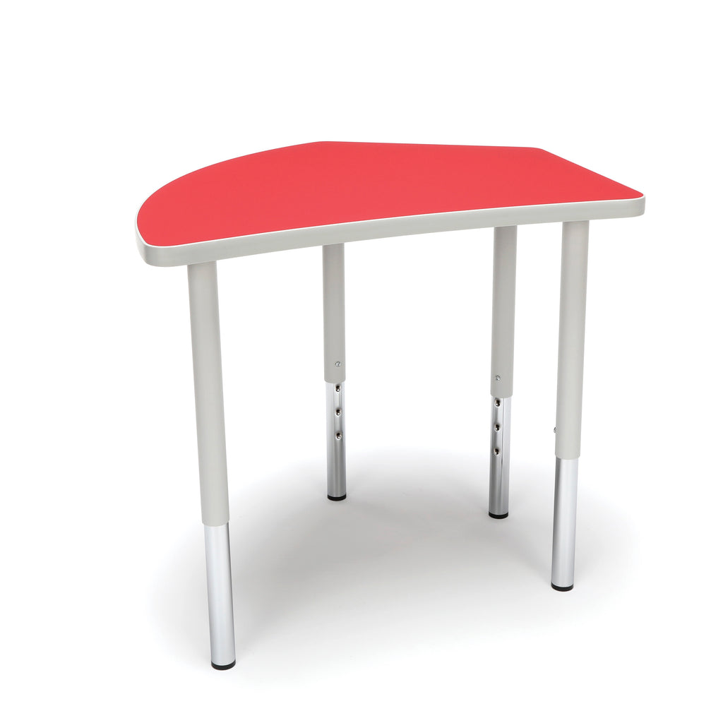 OFM Adapt Series Crescent Standard Table - 23-31? Height Adjustable Desk, Red (CREST-LL) ; UPC: 845123096529 ; Image 1