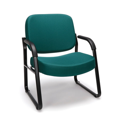 OFM Model 407 Fabric Big and Tall Guest and Reception Chair with Arms, Teal ; UPC: 845123030776 ; Image 1