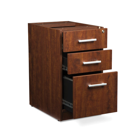 OFM Fulcrum Series Locking Pedestal, 3-Drawer Filing Cabinet, Cherry (CL-BBF-CHY) ; UPC: 845123097465 ; Image 7