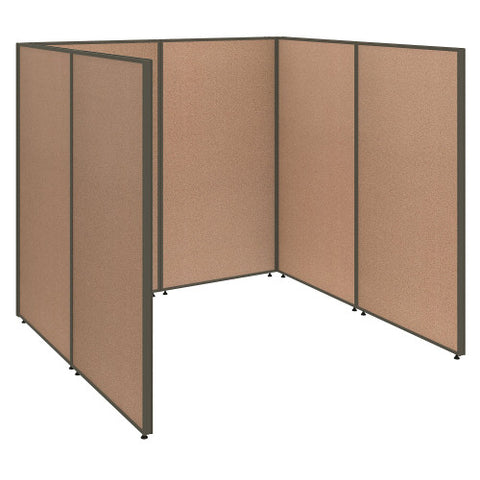Bush ProPanel Single Open Cubicle Office, Harvest Tan PPC001HT ; UPC: 042976040765 ; Image 1