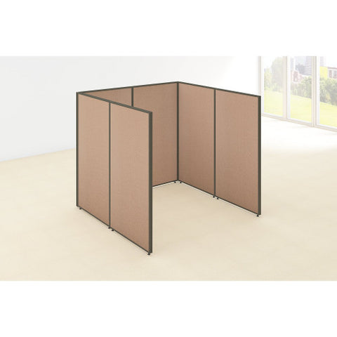 Bush ProPanel Single Open Cubicle Office, Harvest Tan PPC001HT ; UPC: 042976040765 ; Image 2