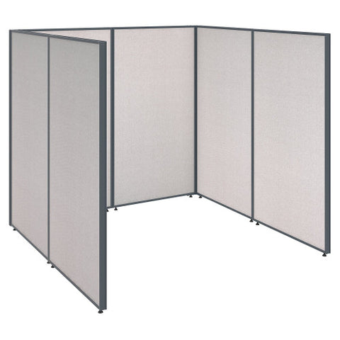 Bush ProPanel Single Open Cubicle Office, Light Grey PPC001LG ; UPC: 042976040789 ; Image 1