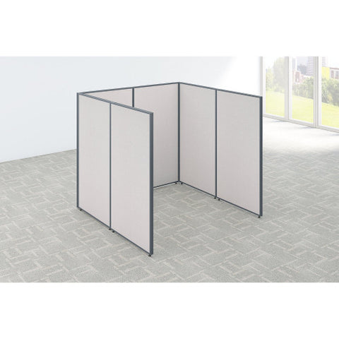Bush ProPanel Single Open Cubicle Office, Light Grey PPC001LG ; UPC: 042976040789 ; Image 2