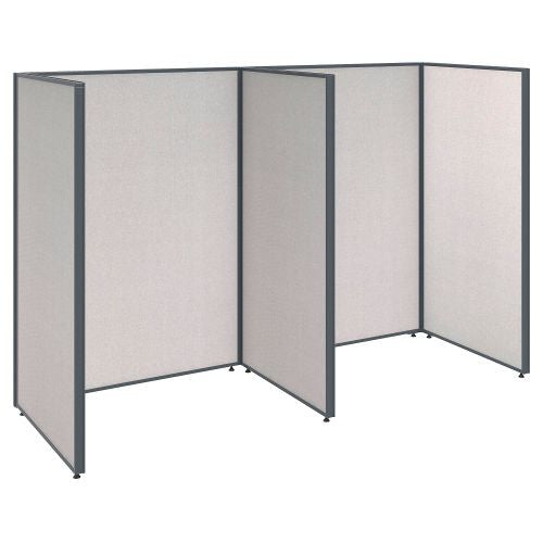 Bush Business Furniture ProPanels 96W x 36D x 66H 2 Person Open Cubicle Configuration in Light Grey ; UPC:042976046576