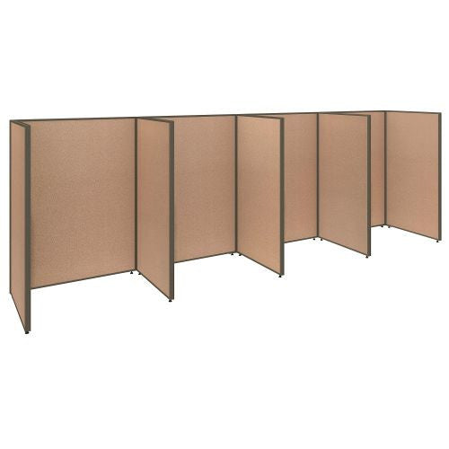 Bush Business Furniture ProPanels 192W x 36D x 66H 4 Person Open Cubicle Configuration in Harvest Tan ; UPC:042976041106