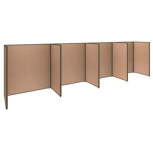 Bush Business Furniture ProPanels 240W x 36D x 66H 4 Person Open Cubicle Configuration in Harvest Tan ; UPC:042976041144