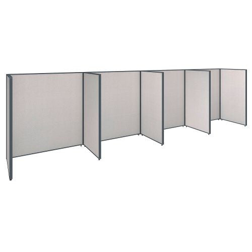 Bush Business Furniture ProPanels 240W x 36D x 66H 4 Person Open Cubicle Configuration in Light Grey ; UPC:042976041168