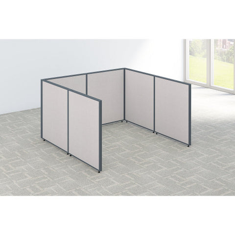 Bush ProPanel Single Open Cubicle Office, Light Grey PPC010LG ; UPC: 042976041243 ; Image 2