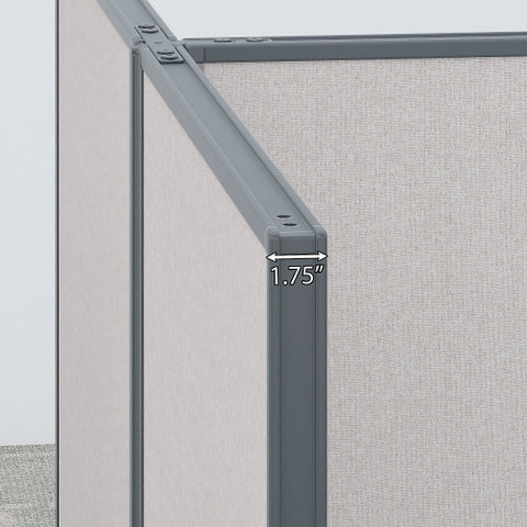 Bush ProPanel Single Open Cubicle Office, Light Grey PPC010LG ; UPC: 042976041243 ; Image 3