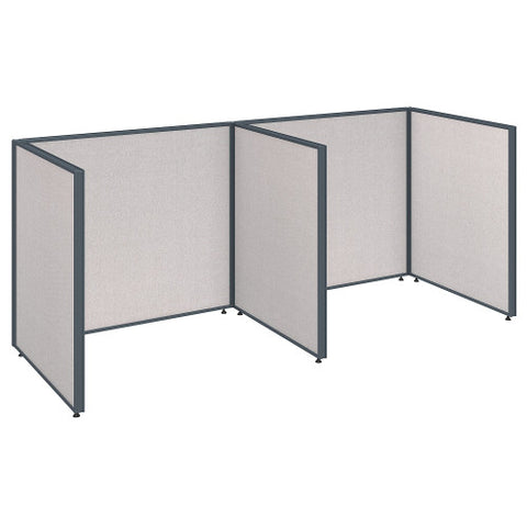 Bush ProPanel 2 Person Open Cubicle Office, Light Grey PPC011LG ; UPC: 042976041281 ; Image 1