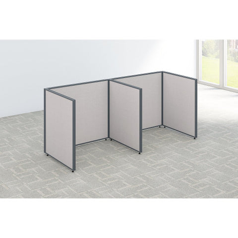Bush ProPanel 2 Person Open Cubicle Office, Light Grey PPC011LG ; UPC: 042976041281 ; Image 2
