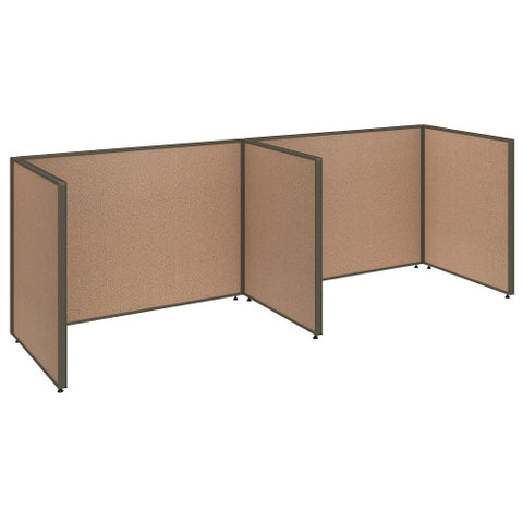 Bush ProPanel 2 Person Open Cubicle Office, Harvest Tan PPC012HT ; UPC: 042976041304 ; Image 1