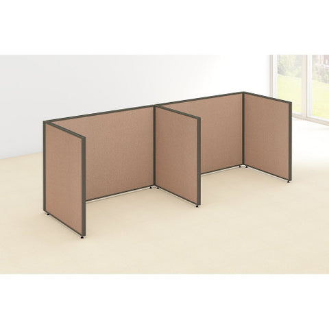 Bush ProPanel 2 Person Open Cubicle Office, Harvest Tan PPC012HT ; UPC: 042976041304 ; Image 2