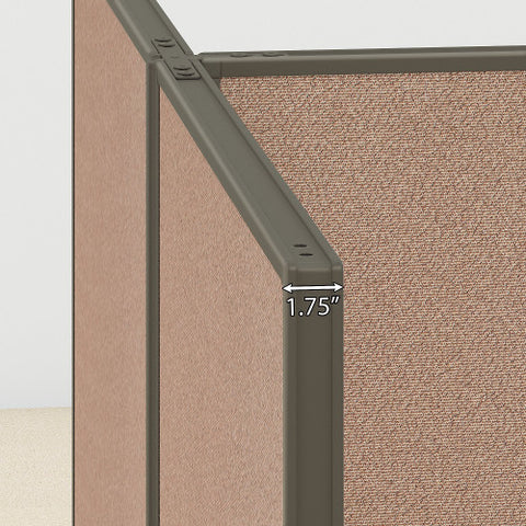 Bush ProPanel 2 Person Open Cubicle Office, Harvest Tan PPC012HT ; UPC: 042976041304 ; Image 3