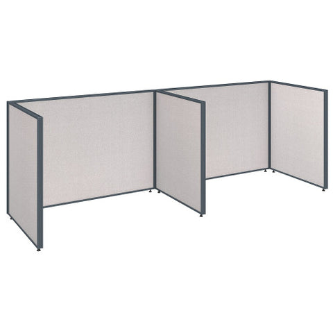 Bush ProPanel 2 Person Open Cubicle Office, Light Grey PPC012LG ; UPC: 042976041328 ; Image 1