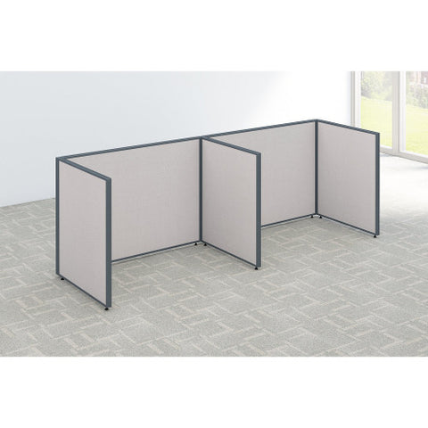 Bush ProPanel 2 Person Open Cubicle Office, Light Grey PPC012LG ; UPC: 042976041328 ; Image 2