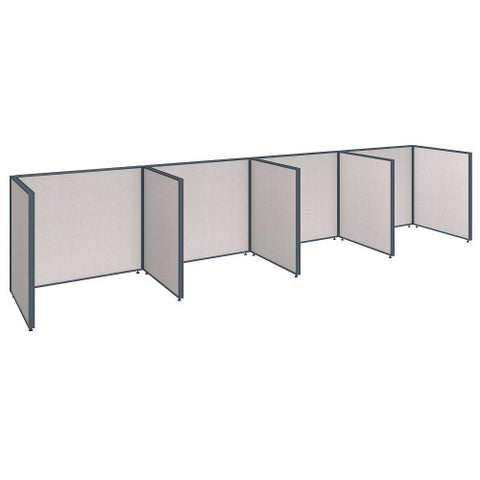 Bush ProPanel 4 Person Open Cubicle Office, Light Grey PPC014LG ; UPC: 042976041403 ; Image 1