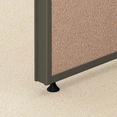 Bush ProPanel 4 Person Open Cubicle Office, Harvest Tan PPC015HT ; UPC: 042976041434 ; Image 4