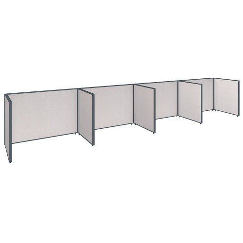 Bush ProPanel 4 Person Open Cubicle Office, Light Grey PPC015LG ; UPC: 042976041458 ; Image 1