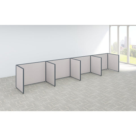 Bush ProPanel 4 Person Open Cubicle Office, Light Grey PPC015LG ; UPC: 042976041458 ; Image 2