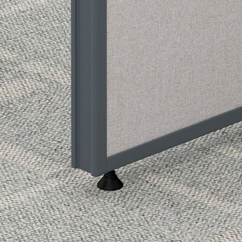 Bush ProPanel 4 Person Open Cubicle Office, Light Grey PPC015LG ; UPC: 042976041458 ; Image 4