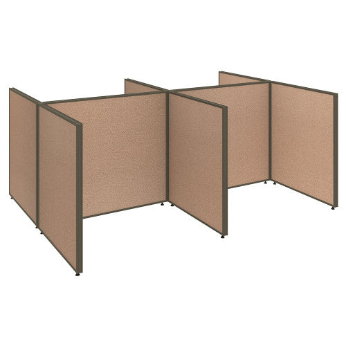 Bush ProPanel 4 Person Open Cubicle Office, Harvest Tan PPC030HT ; UPC: 042976046279 ; Image 1