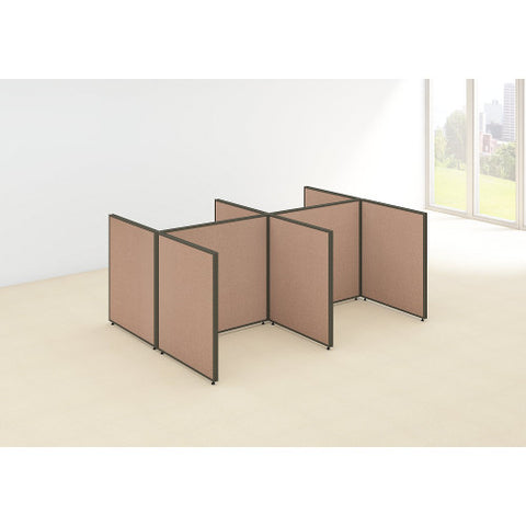 Bush ProPanel 4 Person Open Cubicle Office, Harvest Tan PPC030HT ; UPC: 042976046279 ; Image 2