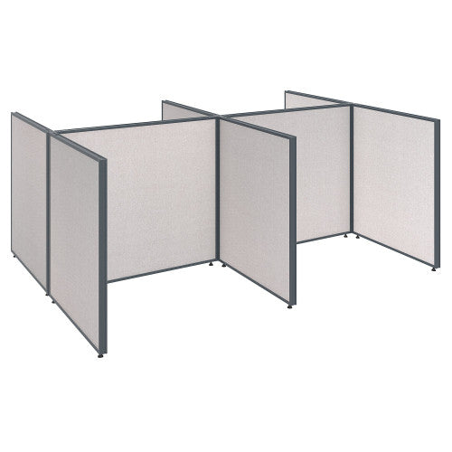 Bush ProPanel 4 Person Open Cubicle Office, Light Grey PPC030LG ; UPC: 042976046293 ; Image 1