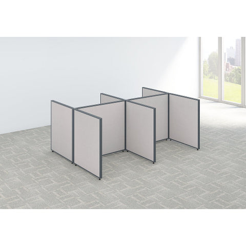 Bush ProPanel 4 Person Open Cubicle Office, Light Grey PPC030LG ; UPC: 042976046293 ; Image 2