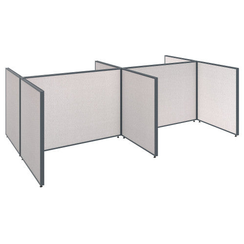 Bush ProPanel 4 Person Open Cubicle Office, Light Grey PPC031LG ; UPC: 042976046361 ; Image 1