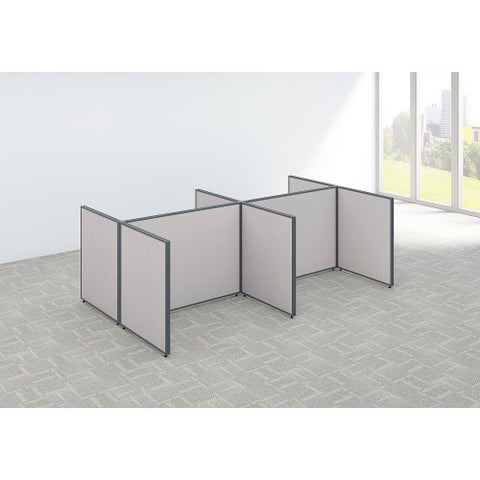 Bush ProPanel 4 Person Open Cubicle Office, Light Grey PPC031LG ; UPC: 042976046361 ; Image 2