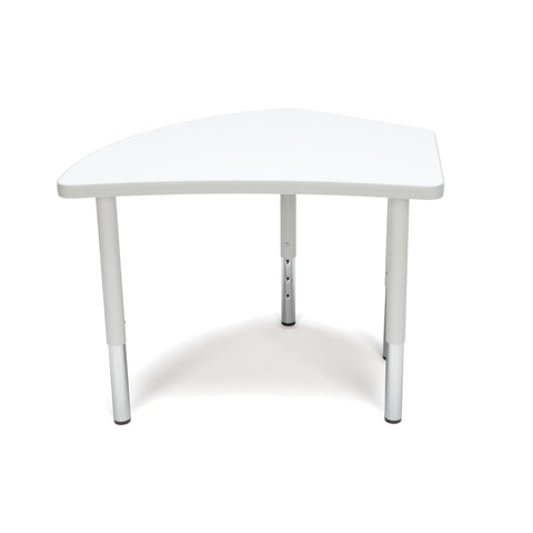 OFM Adapt Series Crescent Student Table - 18-26? Height Adjustable Desk, White (CREST-SL) ; UPC: 845123096291 ; Image 2