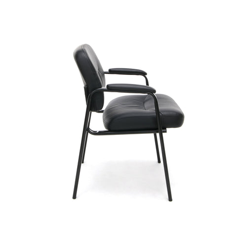 Essentials by OFM ESS-9010 Bonded Leather Executive Side Chair, Black ; UPC: 845123089408 ; Image 4