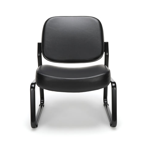 OFM Model 409-VAM Big and Tall Armless Guest and Reception Chair, Anti-Microbial/Anti-Bacterial Vinyl, Black ; UPC: 845123028704 ; Image 2