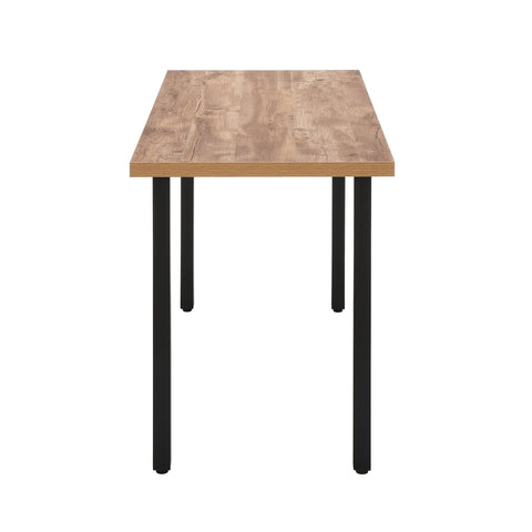 "OFM Essentials Collection 48"" Table Desk, Knotty Oak Woodgrain (ESS-1051-BLK-KOA) ; UPC: 192767000147 ; Image 4"