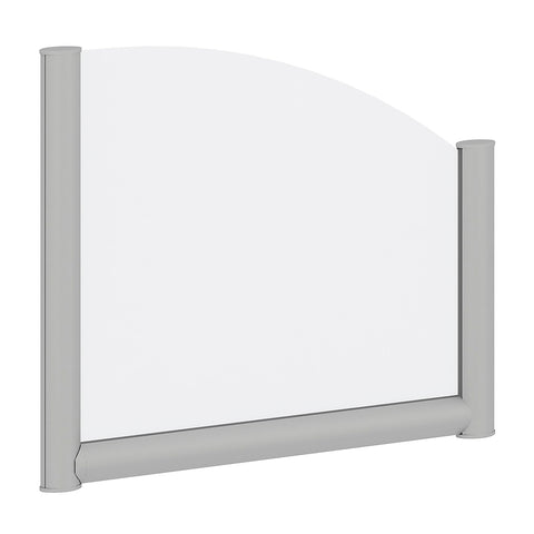 Bush Business Furniture 24W Side Desk Top Privacy Screen, Frosted ; UPC:042976090289 ; Image 1