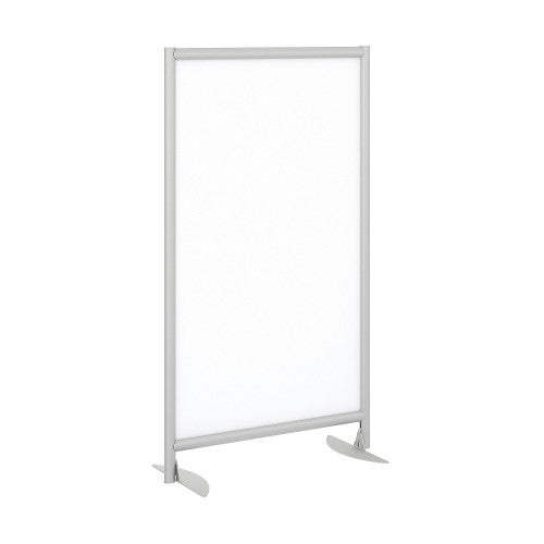 Bush Privacy Screens Freestanding White Board Screen with Stationary Base, PSP335WHK ; UPC: 042976090579 ; Image 1
