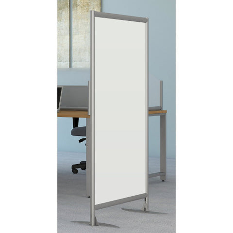Bush Privacy Screens Freestanding White Board Screen with Stationary Base, PSP335WHK ; UPC: 042976090579 ; Image 2