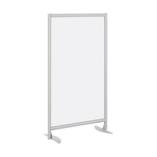 Bush Privacy Screens Freestanding Frosted Acrylic Screen w Stationary Base, PSP535FRK ; UPC: 042976090616 ; Image 1